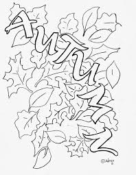 Free Autumn Coloring Page With Leaves
