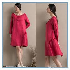 Girls Plus Size Latest Linen Cotton Dress Designs Photos Names With Pictures One Piece Loose