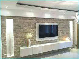 wohnzimmer ideen steinwand dekoration wohnideen