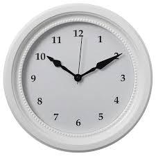 söndrum wall clock white ikea wanduhr weiß wanduhr