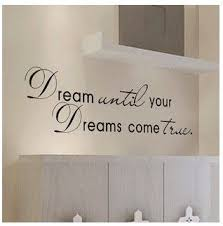 Dream Come True Wall Art Quote Home Sticker Vinyl Decal Room Decor Kid Removable