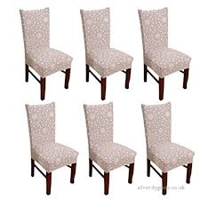 Inroy Chair Cover Elastic Stretch Removable Dining Room Slipcovers 6 B