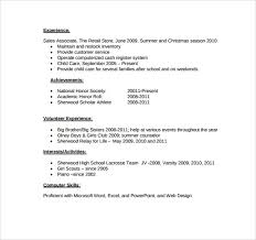 High School Resume Examples Pdf 34 Sample For Highschool Students Example Of
