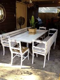 Attractive Dining Table Bench With Outdoor Seating