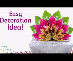 Easy Paper Crafts How To Make Beautiful DIY Floral Craft For Decoration 7 Steps