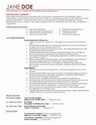 Executive Assistant Sample Resume Awesome Medical Samples Unique Of