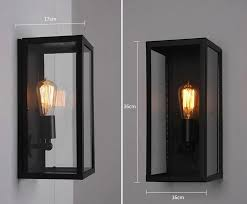 wall sconce clear class cover outdoor wall light metal frame glass