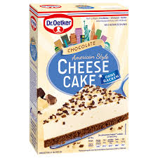 dr oetker chocolate cheese cake american style 355g bei