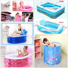 Inflatable Bathtub For Babies by Qoo10 Inflatable Bath Tub Swimming Tub Foldable Bath