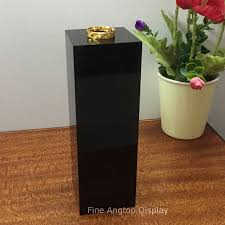 Online Shop Black Acrylic Display Riser Stand Holder For Jewelry Watch Sculpture Figurine Showing Rectangle Pedestal