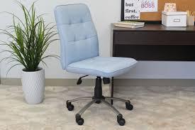 modern office chair light blue bosschair