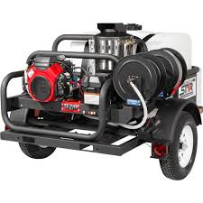 100 North Star Trucking TrailerMounted Hot Water Commercial Pressure Washer