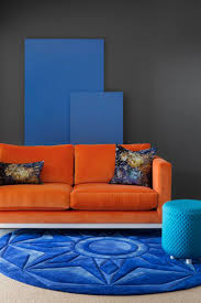 Orange Grey And Turquoise Living Room by Best 25 Orange Sofa Ideas On Pinterest Orange Sofa Inspiration