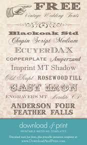 Vintage Fonts Images