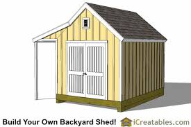 10x14 Garden Shed Plans by 10x14 Colonial Shed With Porch Plans Icreatables Sheds