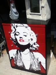 Marilyn Monroe Bedroom Furniture by My Decoupaged Marilyn Monroe Dresser My Redone Furniture