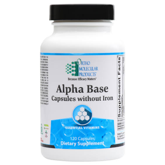 Ortho Molecular Alpha Base Tablets without Iron - 120 Capsules