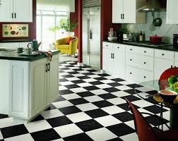 Vinyl Flooring Kitchen White Cabinets And Decoration Tips Related With Black