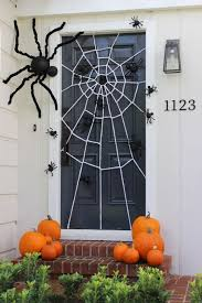 Nightmare Before Christmas Halloween Decorations Diy by Festive Halloween Door Decoration With A Diy Giant Spider Web And