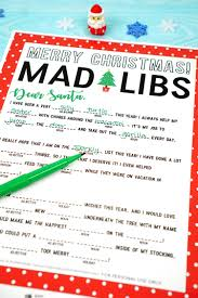 Halloween Mad Libs Free by Christmas Mad Libs Printable Happiness Is Homemade