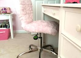 Fur Desk Chair Girly Of Awesome Chairs Pink Furry Fuzzy White
