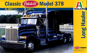 Italeri 3857 1/24 Scale Model Truck Kit Classic Peterbilt 378 Long ...