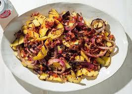 Grilled Fingerling Potato Salad With Chipotle Bacon Vinaigrette