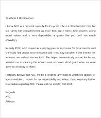 Personal Letter Re mendation For A Friend Re mendation