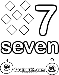 Childrens Coloring Pages Numbers 1 10 Free For Daycoloringpages