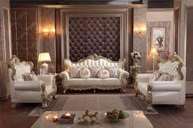 barock wohnzimmer möbel sofa set solide holz und leder sofa