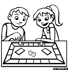 People Playing Board Games Clipart 2135445