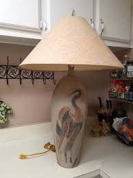 Pacific Coast Lighting Rushall Heron Table Lamp 2002 RARE for Sale