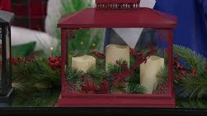 Qvc Christmas Tree With Remote by Oversized Holiday Lantern W 3 Flameless Candles By Valerie On Qvc