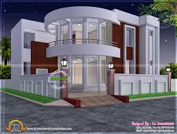 100 Modern Design Homes Plans House Plan With Round Element Kerala Home Contemporary