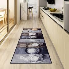 küchenteppich waschbar teppichläufer brücke flur grau grauer design modern küche teppich