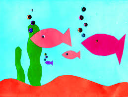 A Cool Construction Paper Aquarium Craft O Kindergarten Nation