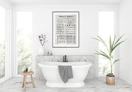 badezimmer druck bad wandkunst wc druck wc wand kunst bad drucke wc drucke wc regeln druck loo druck loo zeichen
