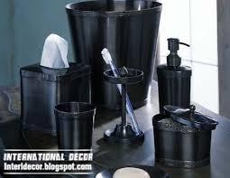 Bathroom Sets Online Target by Bathroom Accessories Set Black Shampoo Pump With Tissues Box