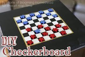 DIY Checker Board Game 50 Festive Memorial Day BBQ Ideascreative Ways