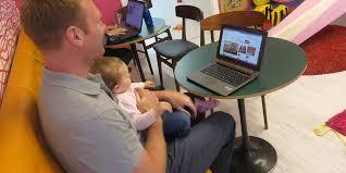 eltern büro coworking space mit kindern
