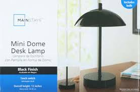Mainstays Floor Lamp Manual by Mainstays Touch Control Mini Dome Lamp Black Walmart Com