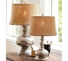 Table Lamps For Bedrooms antique mercury glass table u0026 bedside lamps pottery barn