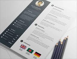 Free PSD Resume Template