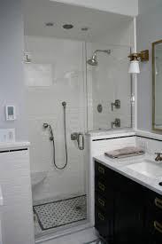 Bathroom Fair Decorating Ideas Using White Tile Backsplash And