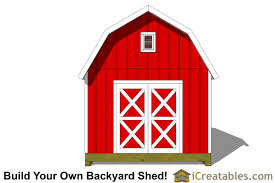 free 12x16 gambrel shed material list 12x16 gambrel shed plans 12x16 barn shed plans
