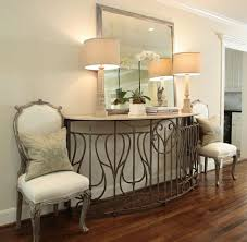 Create Impact With Console Tables In The Entry Artisan Wrought Iron Round Dining Table Base