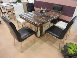 6 Seaters Marble Top Dining Table Designs In India