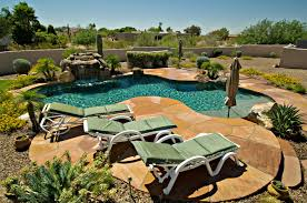 Gorgeous Stone Patio, Desert Landscaping And Turquoise Pool ... Garden Ideas Landscape Design For Small Backyards Lawn Good Agreeable Desert Edible Landscaping Triyaecom Backyard Las Vegas Various Basic Natural For Beginners House Tips Desert Backyard Designs Adorable With Landscape Ideas Terrific Makeover Front Yard Designs And Decor Innovative Arizona 112 Jbeedesigns Outdoor Marvelous Awesome Pics Inspiration Andrea