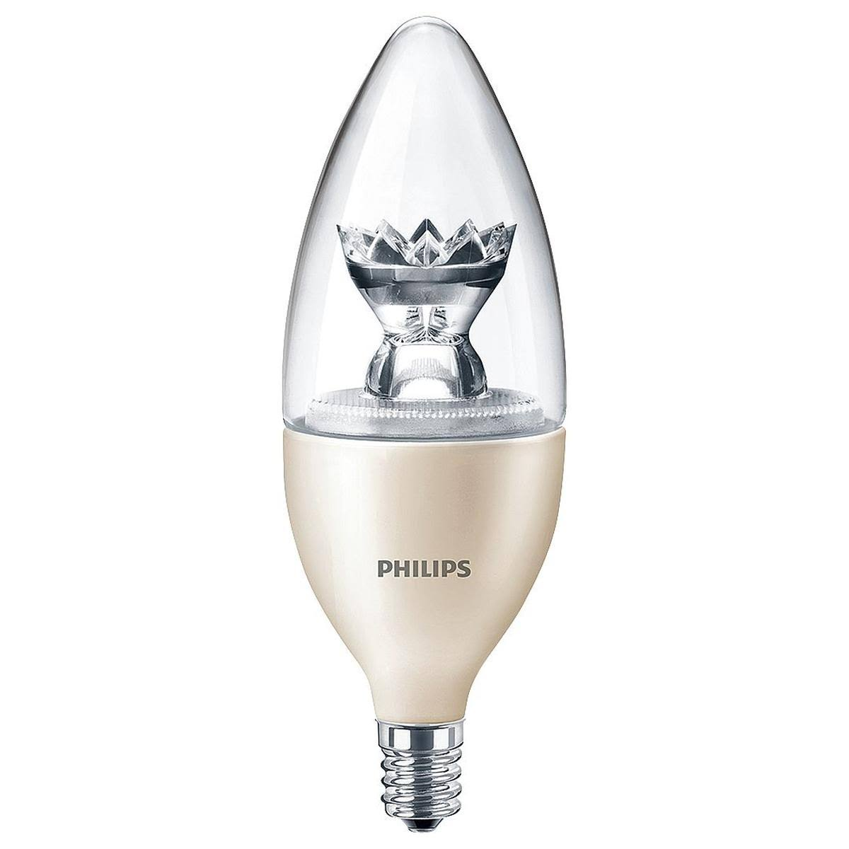Philips E12 LED Dimmable Light Bulb - Candelabra Screw, 25W