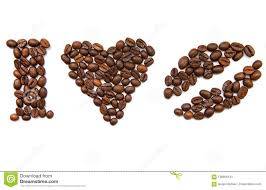 Download I Love Coffee Beans Without Background Stock Image